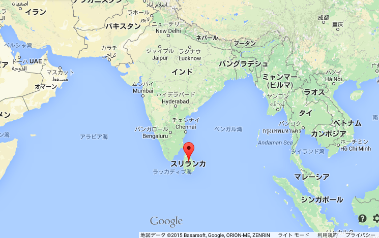 map of srilanka
